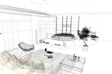 Rendering progetto, interni, interior, Appartamento